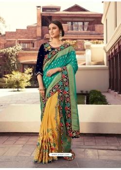 Multi Colour Fancy Designer Party Wear Sari