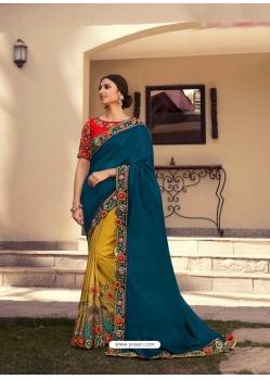 Corn Fancy Designer Party Wear Sari
