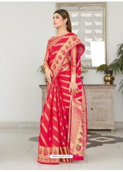Crimson Designer Classic Wear Silk Sari