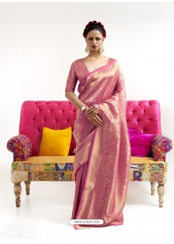 Rani Latest Designer Nylon Two Tone Softy Silk Traditional Wear Sari