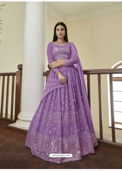 Lavender Latest Designer Wedding Lehenga Choli