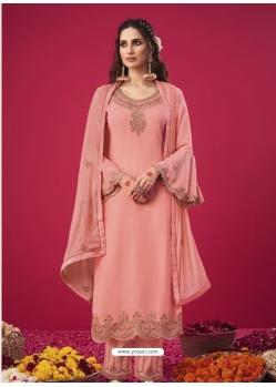 Pink Designer Party Wear Straight Salwar Suit