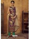 Purple Designer Party Wear Straight Salwar Suit