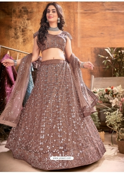 Brown Latest Designer Wedding Lehenga Choli