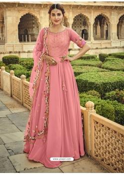 Pink Designer Party Wear Anarkali Suit