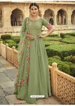 Sea Green Designer Party Wear Anarkali Suit