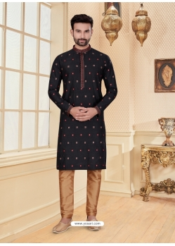 Black Exclusive Readymade Designer Kurta Pajama