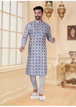 White Exclusive Readymade Designer Kurta Pajama