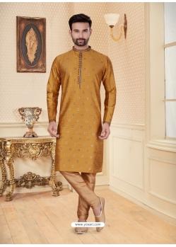 Mustard Exclusive Readymade Designer Kurta Pajama