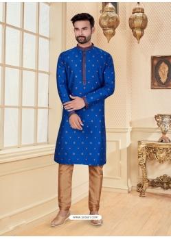 Royal Blue Exclusive Readymade Designer Kurta Pajama
