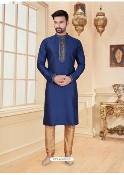 Dark Blue Exclusive Readymade Designer Kurta Pajama