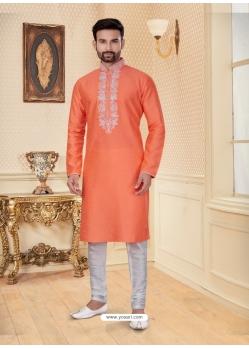 Orange Exclusive Readymade Designer Kurta Pajama