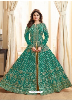 Aqua Mint Latest Designer Mulberry Silk Indo Western Suit