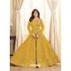 Yellow Latest Designer Mulberry Silk Indo Western Suit