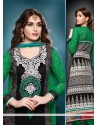 Black Bamber Resham Churidar Salwar Suit