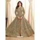 Beige Latest Designer Mulberry Silk Indo Western Suit