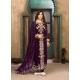 Purple Latest Designer Faux Georgette Salwar Suit