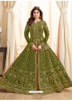 Mehendi Latest Designer Mulberry Silk Indo Western Suit