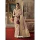 Dusty Pink Designer Classic Wear Crow Chat Silk Sari