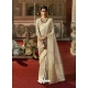 Taupe Designer Classic Wear Crow Chat Silk Sari