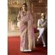 Mauve Designer Classic Wear Crow Chat Silk Sari
