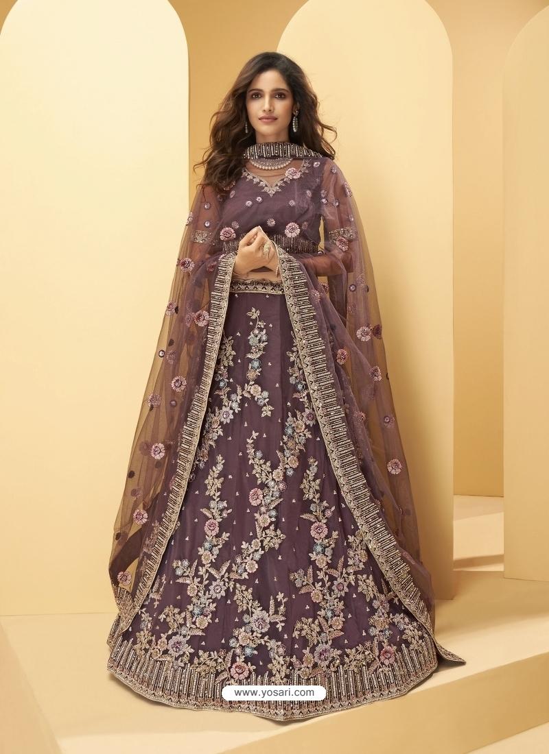 Deep Wine Latest Designer Wedding Lehenga Choli