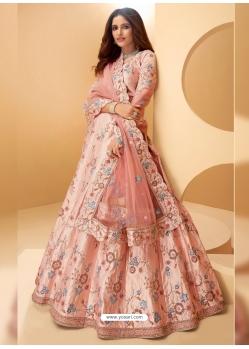 Peach Latest Designer Wedding Lehenga Choli