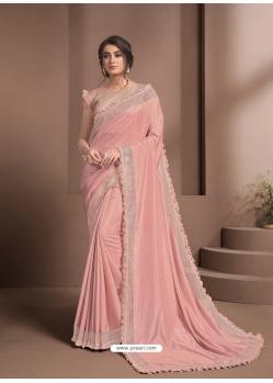 Pink Designer Party Wear Sari