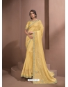 Yellow Designer Party Wear Sari