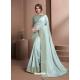 Sky Blue Designer Party Wear Sari