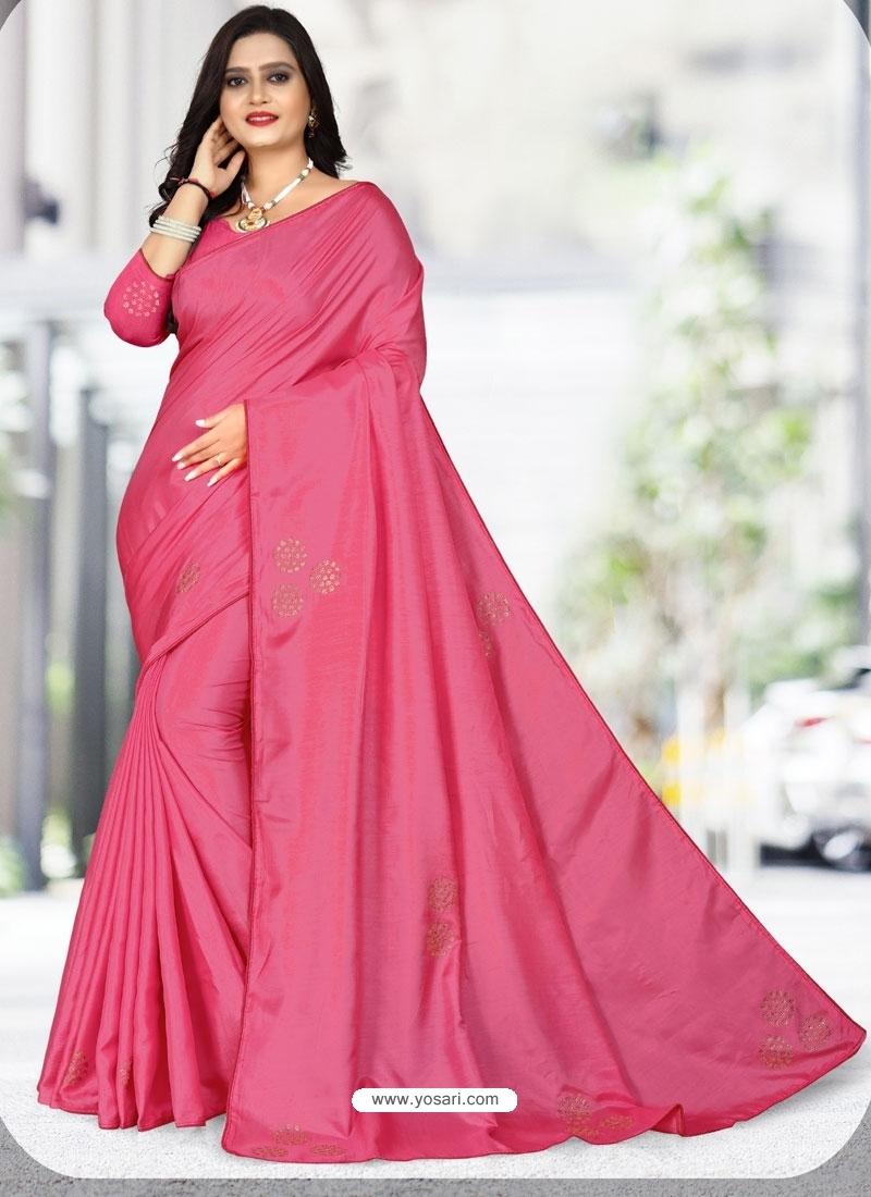 Rani Designer Party Wear Dola Silk Sari