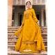 Mustard Readymade Designer Festive Wear Heavy Rayon Lehenga Suit