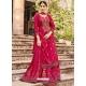Rose Red Readymade Designer Festive Wear Heavy Rayon Lehenga Suit