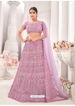 Mauve Latest Designer Wedding Lehenga Choli