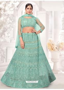 Aqua Mint Latest Designer Wedding Lehenga Choli