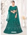 Teal Latest Designer Wedding Lehenga Choli