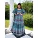 Blue Readymade Designer Festive Wear Chanderi Aanarkali Suit