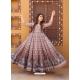 Dusty Pink Readymade Designer Festive Wear Chanderi Aanarkali Suit
