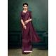 Deep Wine Designer Party Wear Imported Silk Lycra Sari