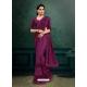 Purple Designer Party Wear Imported Silk Lycra Sari