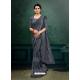 Grey Designer Party Wear Imported Silk Lycra Sari