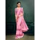 Pink Designer Party Wear Imported Silk Lycra Sari
