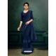 Navy Blue Designer Party Wear Imported Silk Lycra Sari