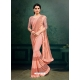 Light Orange Designer Party Wear Imported Silk Lycra Sari