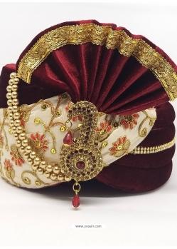 Multi Colour Designer Velvet Wedding Turban
