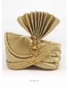 Gold Designer Heavy Satin Wedding Turban