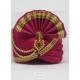 Rose Red Designer Dupion Silk Wedding Turban