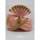 Peach Designer Dupion Silk Wedding Turban