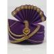 Violet Designer Dupion Silk Wedding Turban