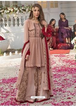 Pink Latest Designer Georgette Palazzo Salwar Suit